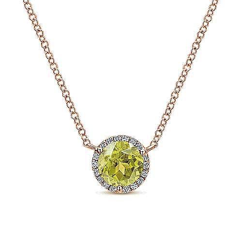 14K Rose Gold  Fashion Necklace