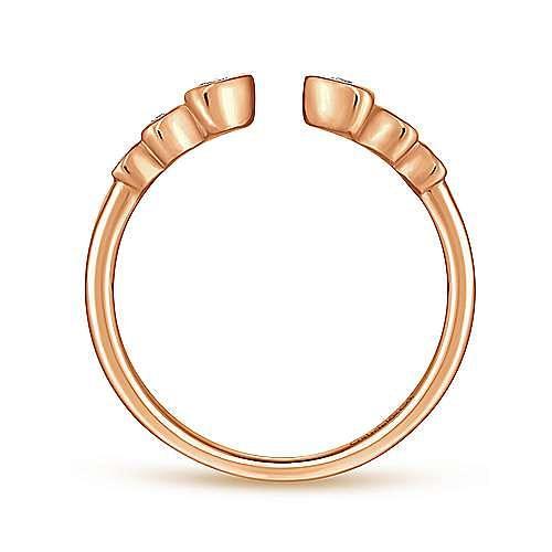 14K Rose Gold Bezel Set Diamond Split Stackable Ring