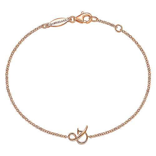 14K Rose Gold Chain Bracelet with