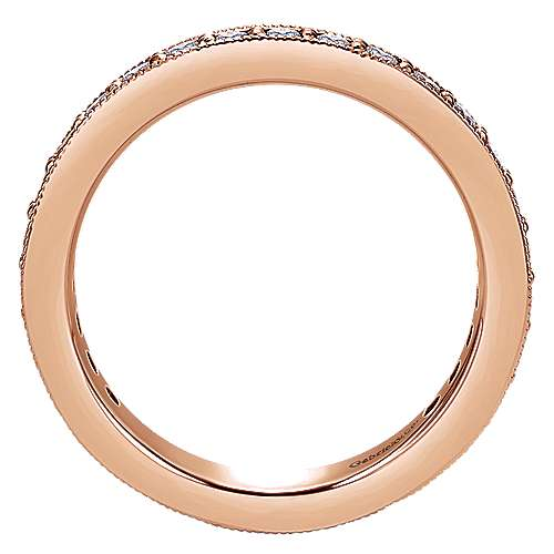 14K Rose Gold Channel Prong Set Diamond Eternity Band