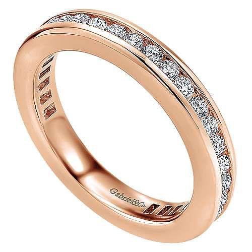 14K Rose Gold Channel Set Diamond Eternity Band