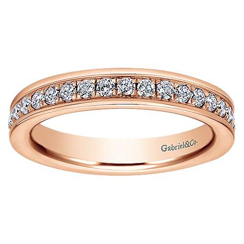 14K Rose Gold Channel Set Diamond Eternity Band