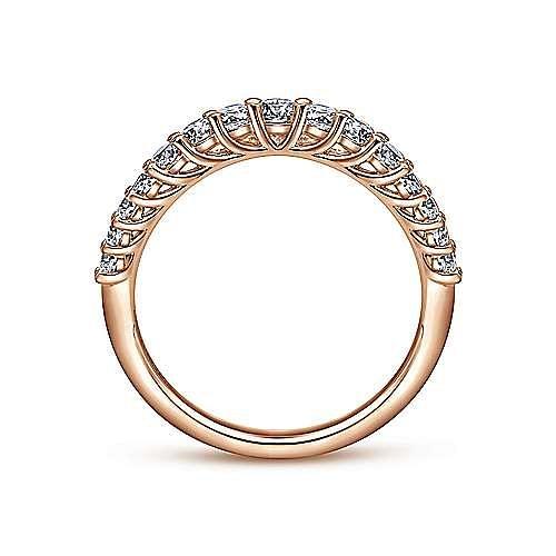 14K Rose Gold Diamond Anniversary Band