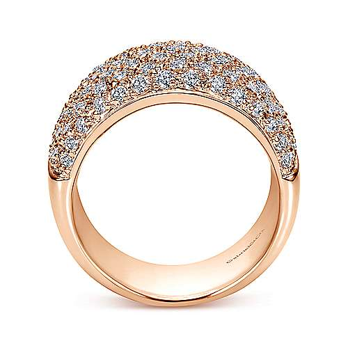 14K Rose Gold Diamond Anniversary Band