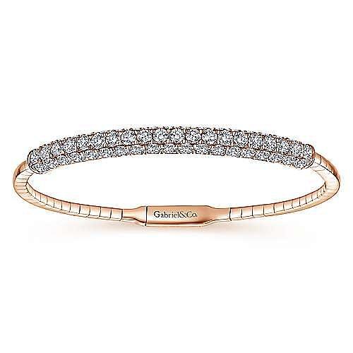 Gabriel - 14K Rose Gold Diamond Bangle