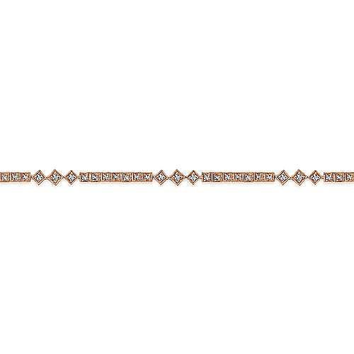 14K Rose Gold Diamond Bracelet