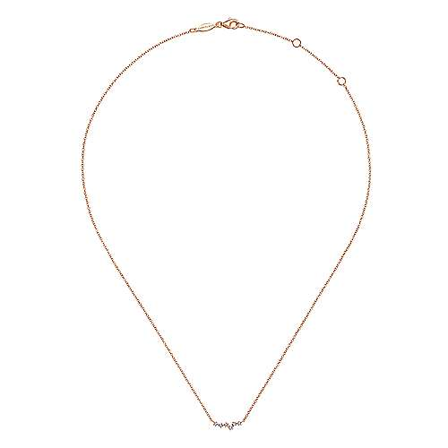 14K Rose Gold Diamond Constellation Necklace