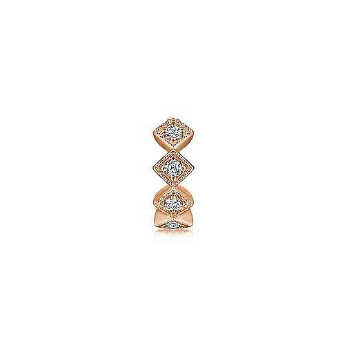 14K Rose Gold Diamond Cuff Earring