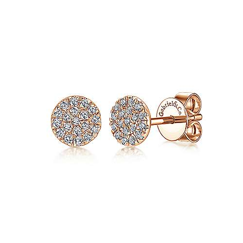 Gabriel - 14K Rose Gold Diamond Earring