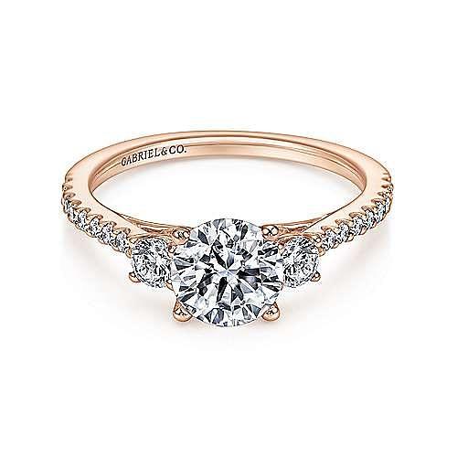 Gabriel - 14K Rose Gold Diamond Engagement Ring