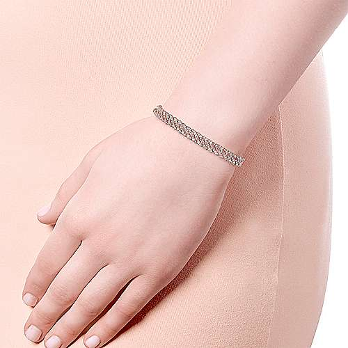 14K Rose Gold Diamond Link Tennis Bracelet