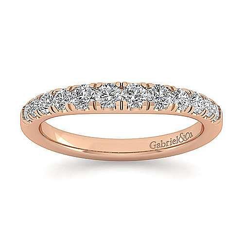 14K Rose Gold Diamond Matching Wedding Band