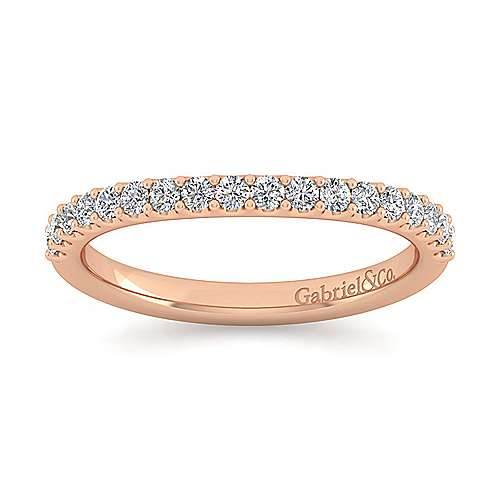 14K Rose Gold Diamond Matching Wedding Band