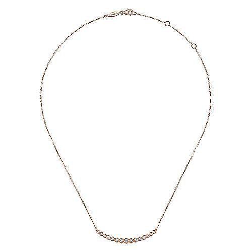 14K Rose Gold Diamond Necklace