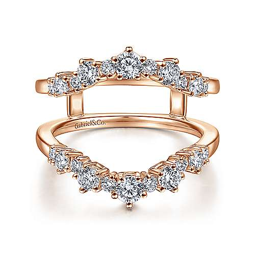 14K Rose Gold Diamond Ring Enhancer