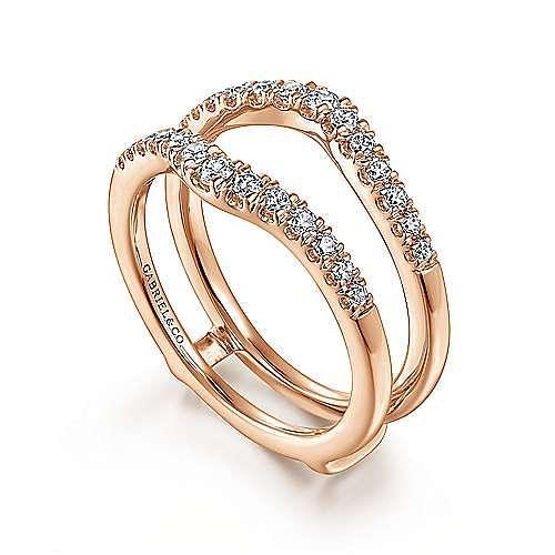14K Rose Gold Diamond Ring Enhancer