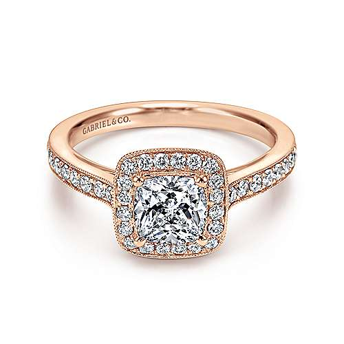 Gabriel - 14K Rose Gold Engagement Ring