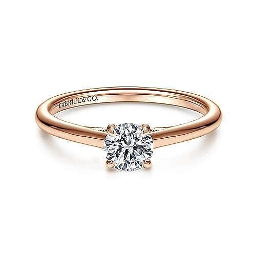 Gabriel - 14K Rose Gold Engagement Ring