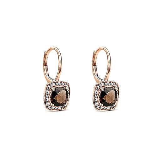 14K Rose Gold Fashion Earring