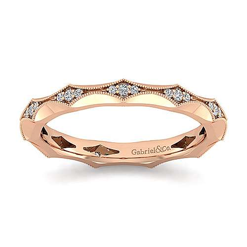 14K Rose Gold Graduating Diamond Eternity Ring