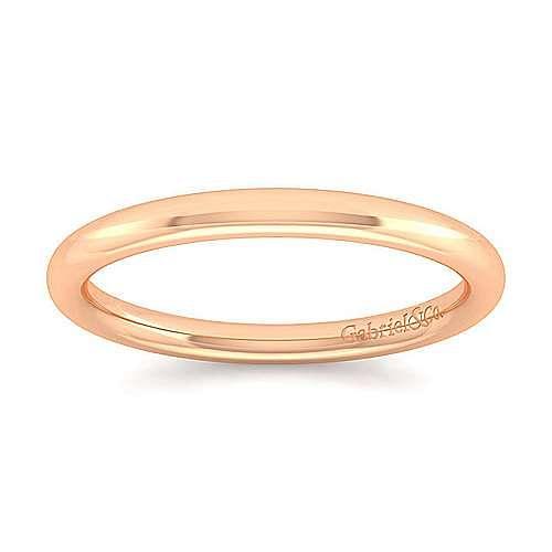 14K Rose Gold Matching Wedding Band