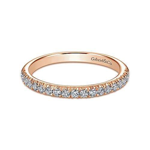 Gabriel - 14K Rose Gold Matching Wedding Band