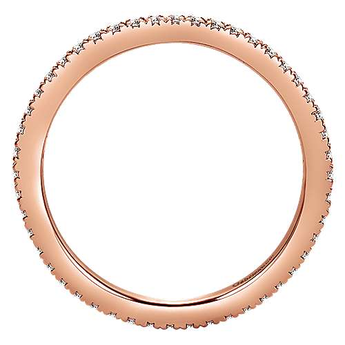 14K Rose Gold Micro Pavé Diamond Eternity Band