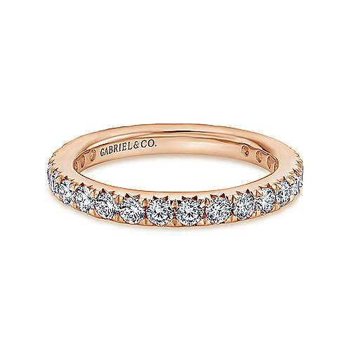 14K Rose Gold Micro Pavé Diamond Eternity Band
