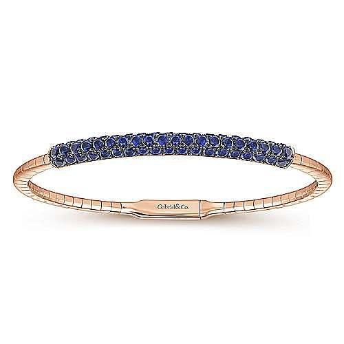 14K Rose Gold Sapphire Bangle