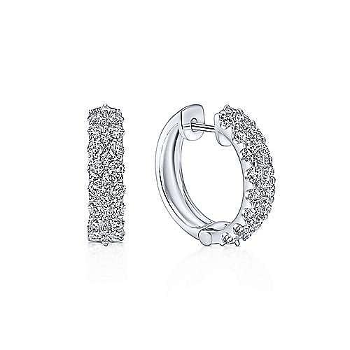 14K W. Gold 20mm Dia Hoop Earrings
