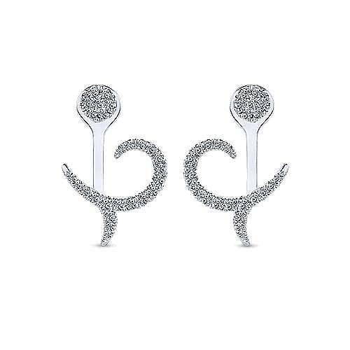 fd4c519ec 14K White Gold Peek A Boo Diamond Flourish Earrings   EG13199W45JJ ...