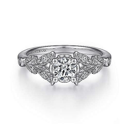 Gabriel - 14K W.Gold Dia Eng Ring