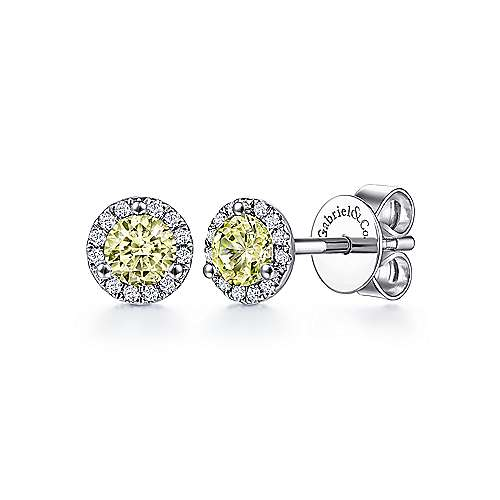 14K W.Gold Dia,LQ Earrings