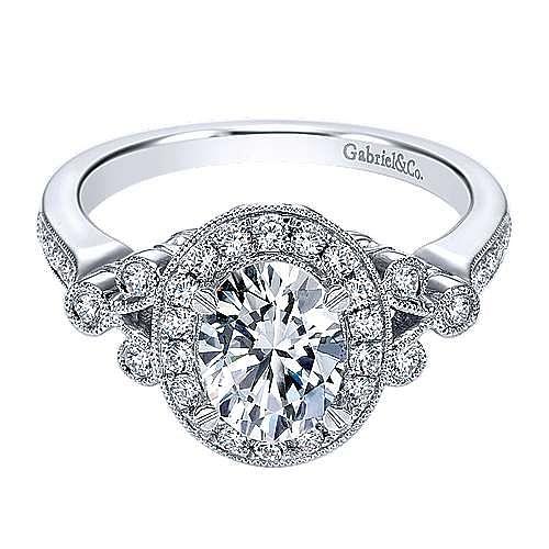 Gabriel - 14K W.Gold Diamond Eng.Ring