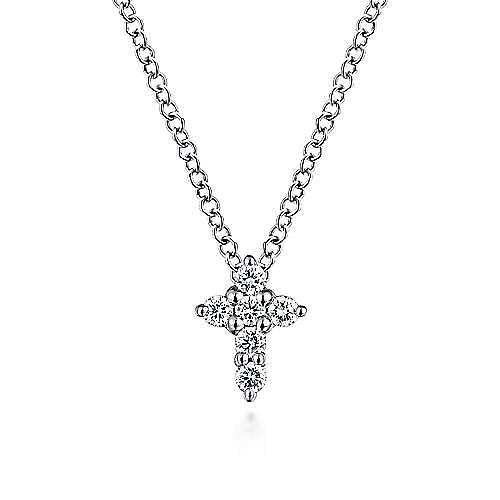 14K W.Gold Diamond Necklace