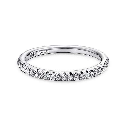 14K W.Gold Diamond W.Band