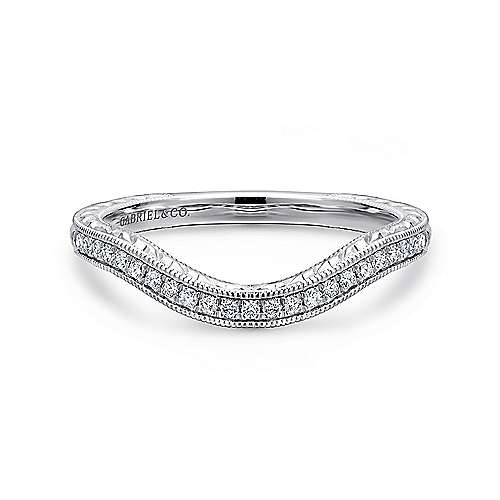 Gabriel - 14K W.Gold Diamond W.Band