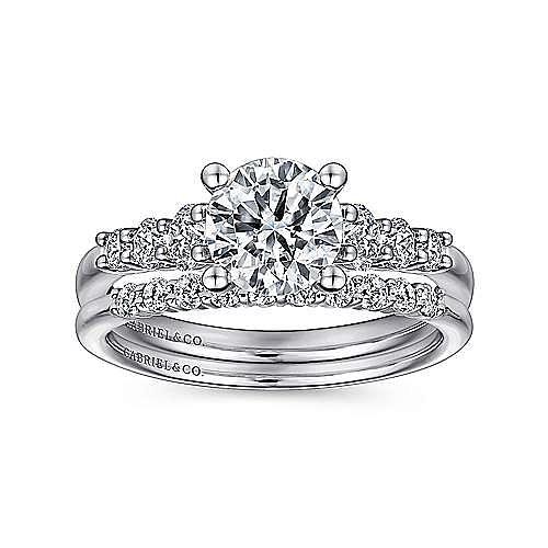 14K W.Gold Diamond Wedding Band