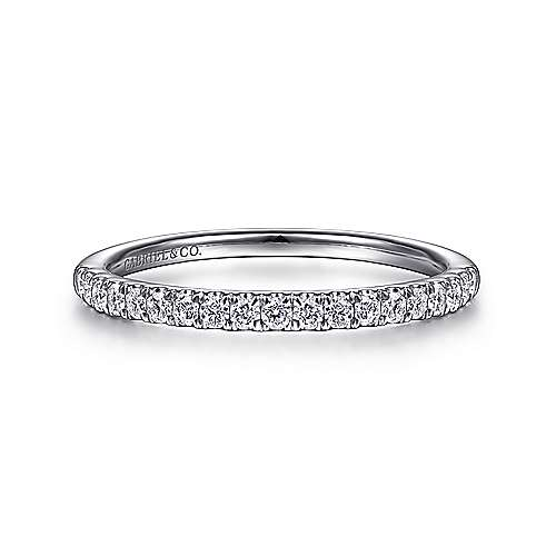 Gabriel - 14K W.Gold Diamond Wedding Band