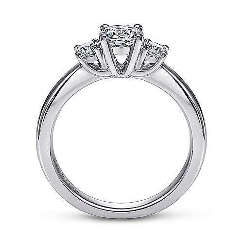 14K White Gold   Engagement Ring