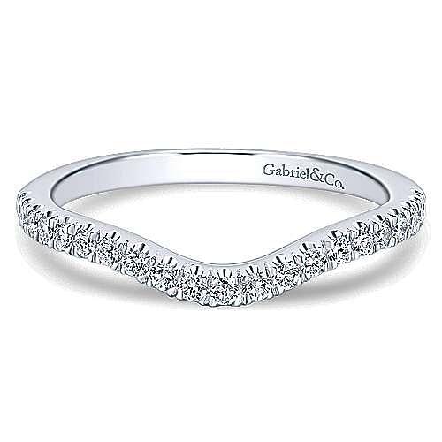Gabriel - 14K White Gold   Matching Wedding Band