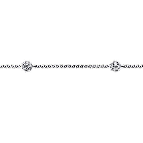 14K White Gold  Fashion Ankle Bracelet