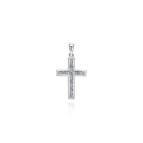 Gabriel - 14K White Gold  Fashion Cross Pendant