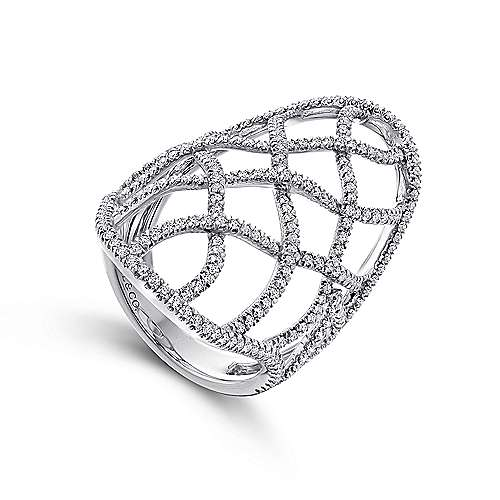 14K White Gold  Fashion Ladies' Ring