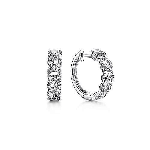 Gabriel - 14K White Gold 10MM Fashion Earrings