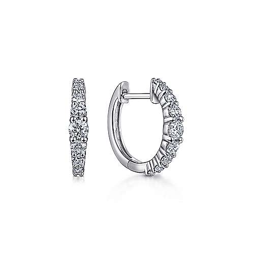 14K White Gold 10MM Fashion Earrings