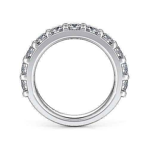 14K White Gold 11 Stone Shared Prong Diamond Anniversary Band