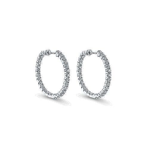 Gabriel - 14K White Gold 30MM Fashion Earrings