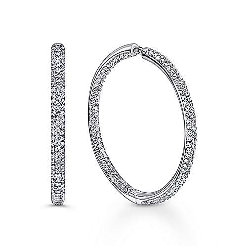 Gabriel - 14K White Gold 40MM Fashion Earrings