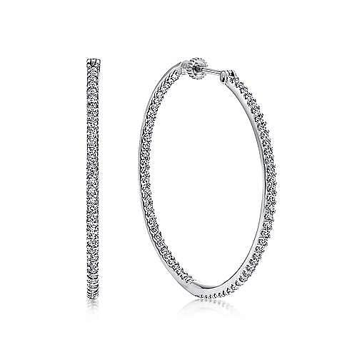 Gabriel - 14K White Gold 40MM Fashion Earrings